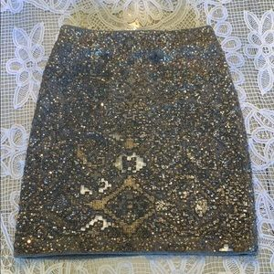 Anthropologie beaded skirt Moulinette Souers